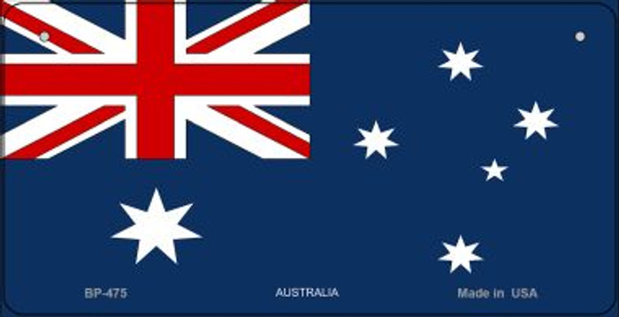 Australia Flag Novelty Metal Bicycle Plate BP-475