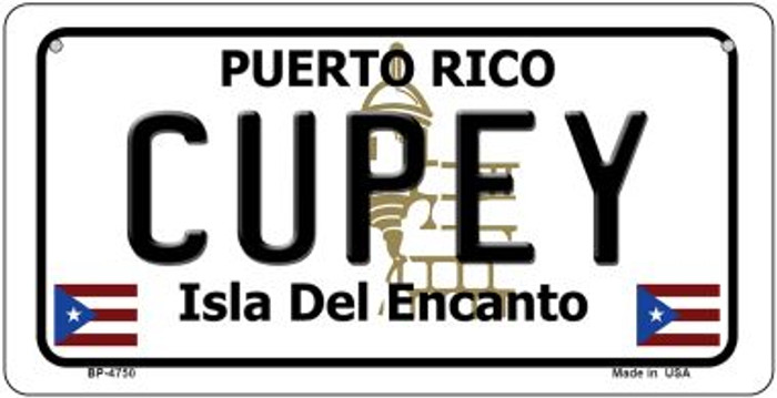 Cupey Puerto Rico State Novelty Metal Bicycle Plate BP-4750