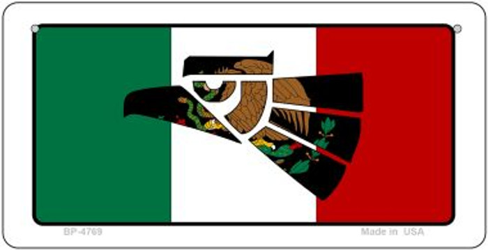 Made In Mexico (Flag) Novelty Metal Bicycle Plate BP-4769