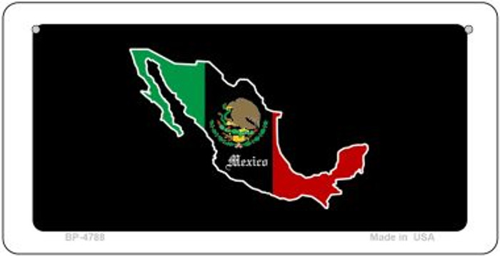 Mexico Outline Novelty Metal Bicycle Plate BP-4788