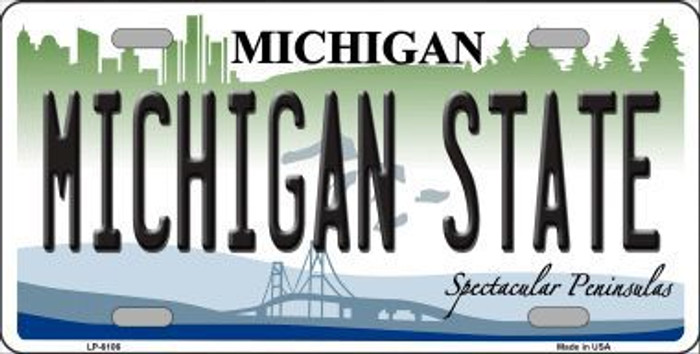 Michigan State Metal Novelty License Plate LP-6106