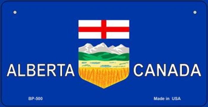 Alberta Canada Flag Novelty Metal Bicycle Plate BP-500