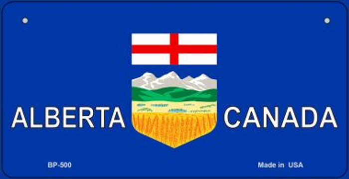 Alberta Canada Flag Novelty Metal Bicycle Plate BP-500