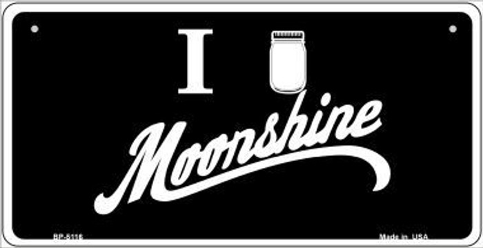 I Love Moonshine Novelty Metal Bicycle Plate BP-5116