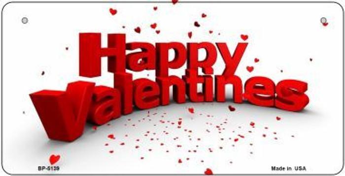 Happy Valentines Novelty Metal Bicycle Plate BP-5139