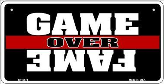 Game Over Fame Novelty Metal Bicycle Plate BP-5171