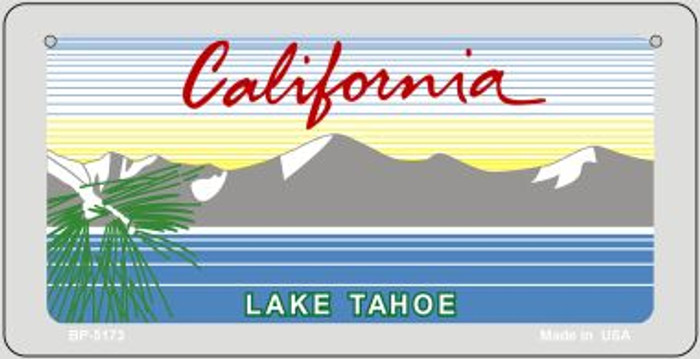 California Lake Tahoe Blank Novelty Metal Bicycle Plate BP-5173