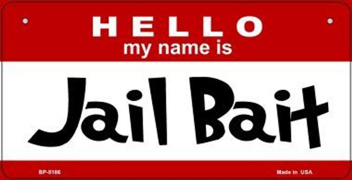 Jail Bait Novelty Metal Bicycle Plate BP-5186