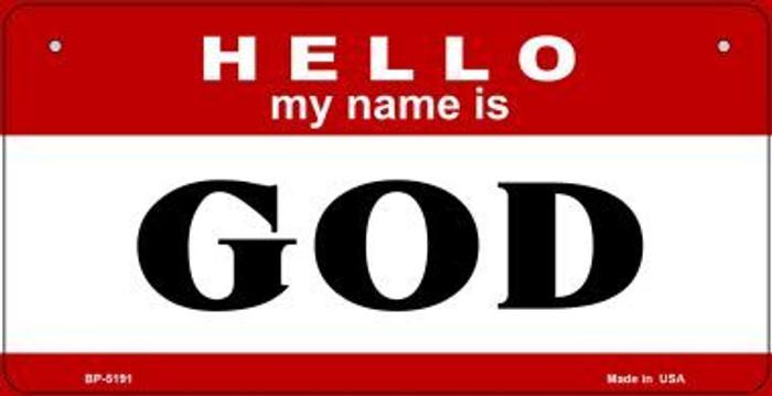 Name Is God Novelty Metal Bicycle Plate BP-5191
