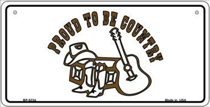 Proud to Be Country Novelty Metal Bicycle Plate BP-5234