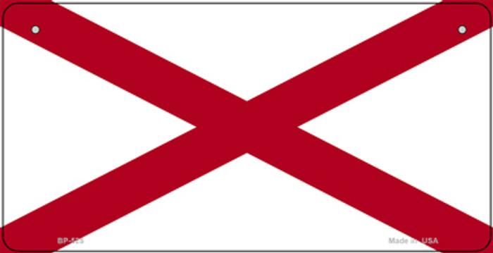 Alabama Flag Novelty Metal Bicycle Plate BP-525