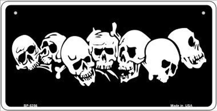 Skulls Novelty Metal Bicycle Plate BP-5256