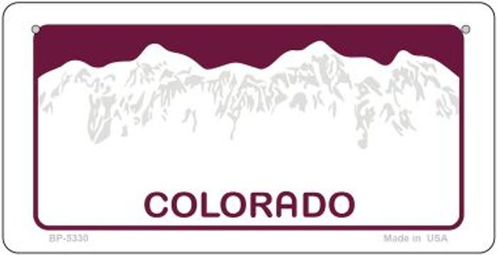 Colorado Blank Novelty Metal Bicycle Plate BP-5330