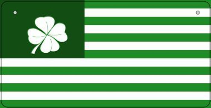 Green Shamrock Flag Novelty Metal Bicycle Plate BP-6884