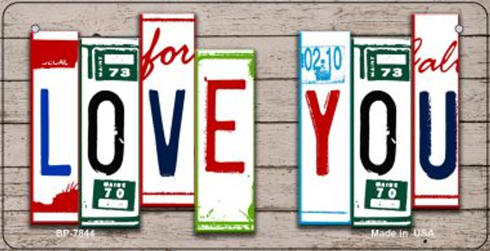 Love You Plate Art Novelty Metal Bicycle Plate BP-7844