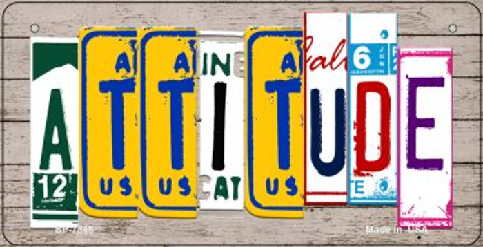 Attitude Plate Art Novelty Metal Bicycle Plate BP-7846