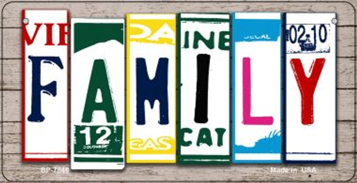 Family Plate Art Novelty Metal Bicycle Plate BP-7848