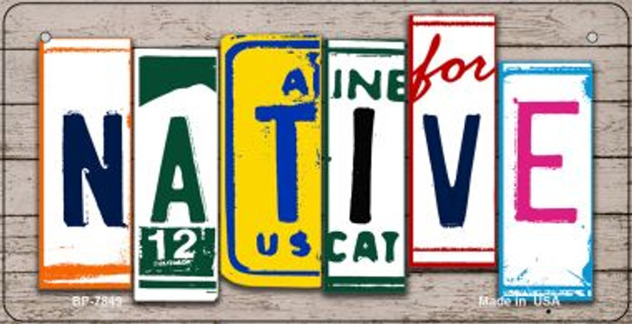 Native Plate Art Novelty Metal Bicycle Plate BP-7849