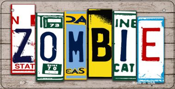 Zombie Plate Art Novelty Metal Bicycle Plate BP-7852