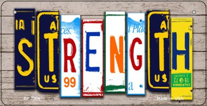 Strength Plate Art Novelty Metal Bicycle Plate BP-7904