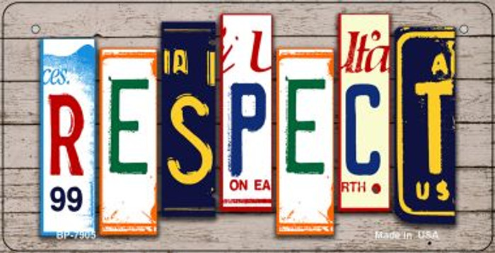 Respect Plate Art Novelty Metal Bicycle Plate BP-7905