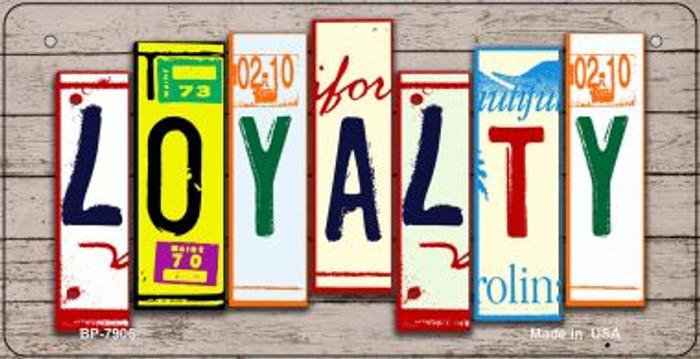 Loyalty Plate Art Novelty Metal Bicycle Plate BP-7906