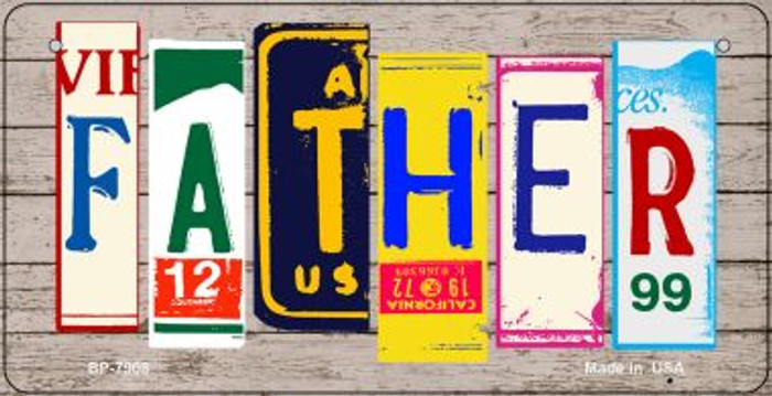 Father Plate Art Novelty Metal Bicycle Plate BP-7908