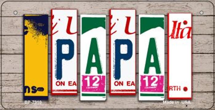 Papa Plate Art Novelty Metal Bicycle Plate BP-7910