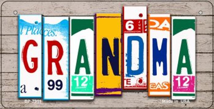 Grandma Plate Art Novelty Metal Bicycle Plate BP-7911