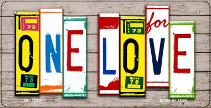 One Love Plate Art Novelty Metal Bicycle Plate BP-7913