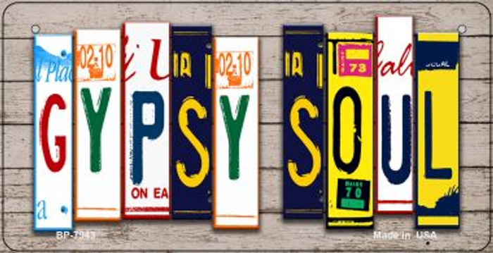 Gypsy Soul Plate Art Novelty Metal Bicycle Plate BP-7943