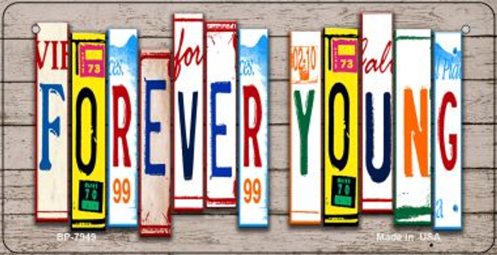 Forever Young Plate Art Novelty Metal Bicycle Plate BP-7949