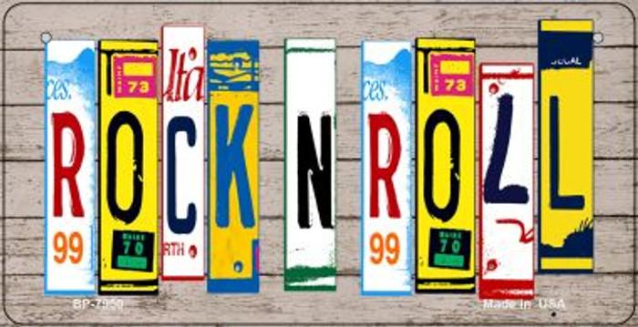 Rock N Roll Plate Art Novelty Metal Bicycle Plate BP-7950