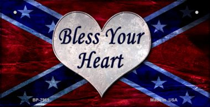 Bless Your Heart Novelty Metal Bicycle Plate BP-7969