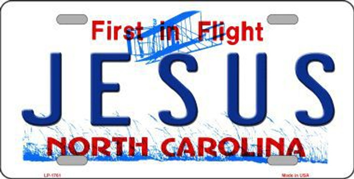 Jesus North Carolina Metal Novelty License Plate