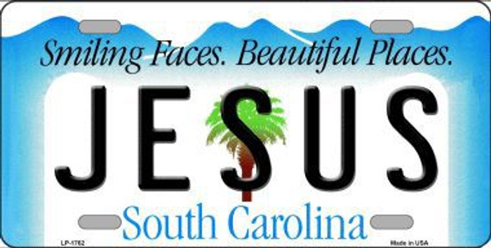 Jesus South Carolina Metal Novelty License Plate