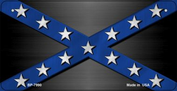 Confederate Blue Novelty Metal Bicycle Plate BP-7990