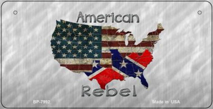 American Rebel Novelty Metal Bicycle Plate BP-7992