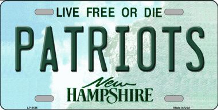 Patriots New Hampshire Metal Novelty License Plate LP-5435