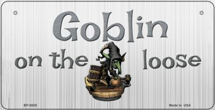 Goblin On The Loose Novelty Metal Bicycle Plate BP-8008