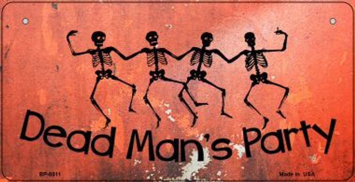 Dead Mans Party Novelty Metal Bicycle Plate BP-8011