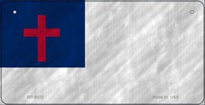 Christian Flag Novelty Metal Bicycle Plate BP-8022