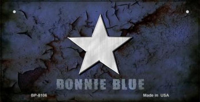Bonnie Blue Peeling Novelty Metal Bicycle Plate BP-8106