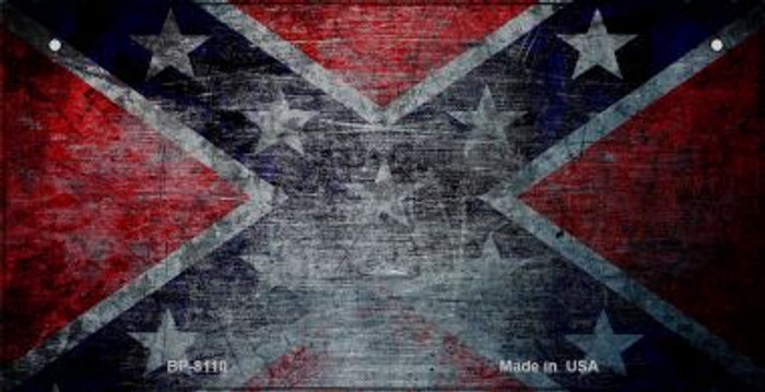 Confederate Flag Scratched Novelty Metal Bicycle Plate BP-8110
