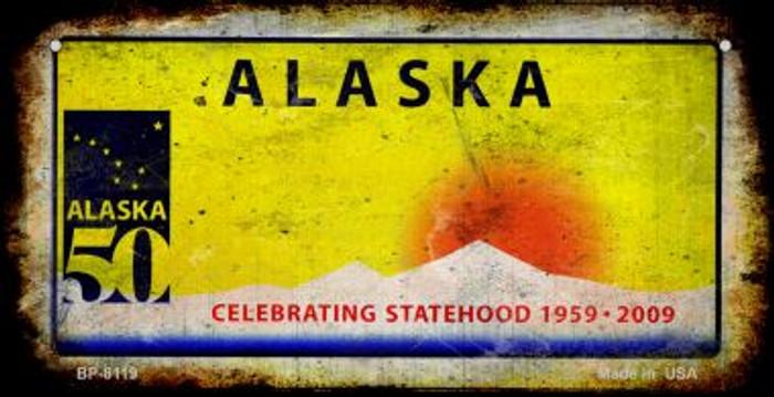 Alaska Rusty Blank Novelty Metal Bicycle Plate BP-8119
