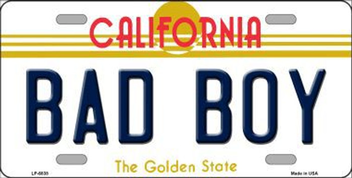 Bad Boy California Novelty Metal License Plate LP-6838