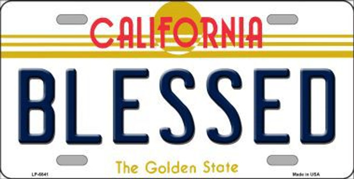 Blessed California Novelty Metal License Plate LP-6841