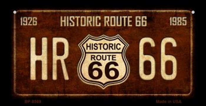Route 66 Historic Vintage Novelty Metal Bicycle Plate BP-8569