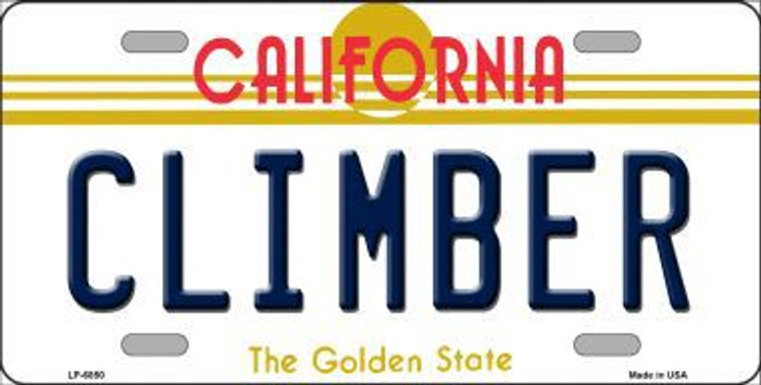 Climber California Novelty Metal License Plate LP-6850