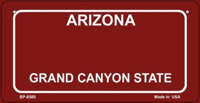 Arizona Red Blank Novelty Metal Bicycle Plate BP-8580